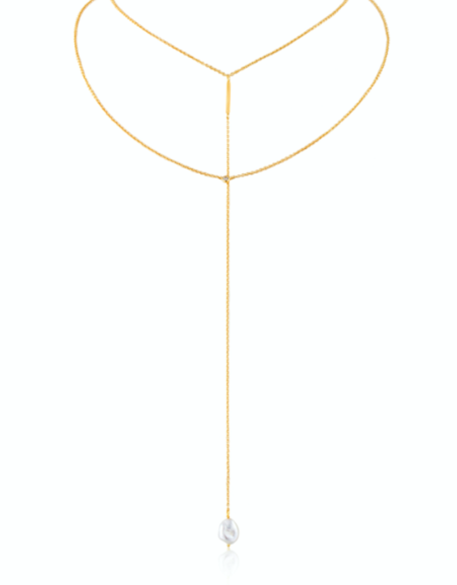 Ania Haie Ania Haie - pearl y necklace gold
