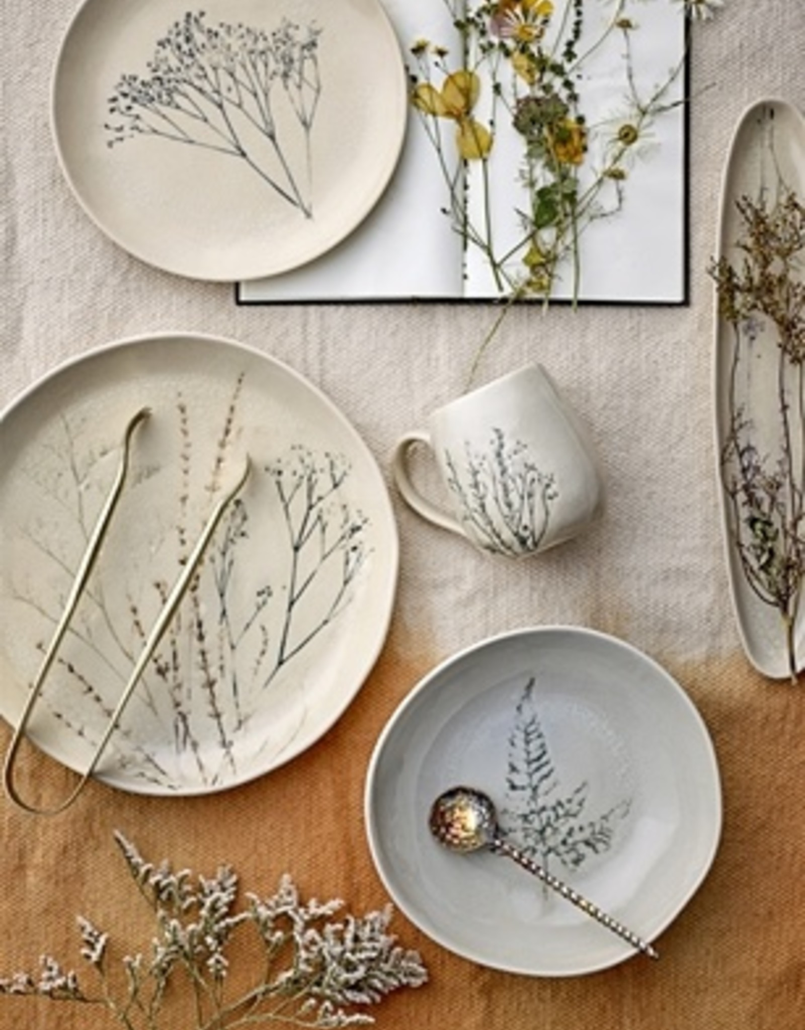 Bloomingville Bloomingville - Bea nature stoneware serving plate