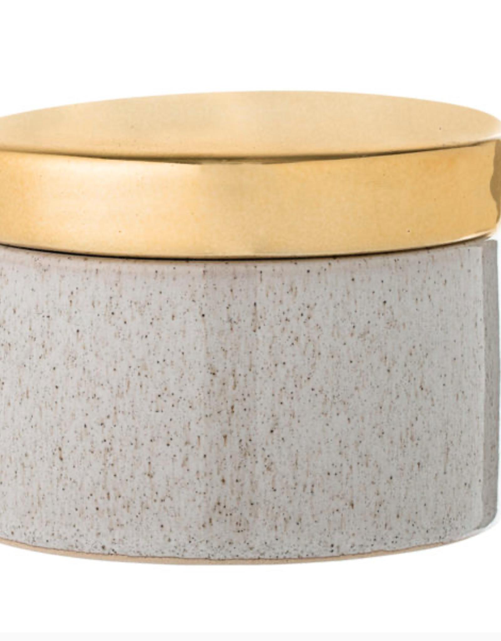Bloomingville Bloomingville - jar stoneware natural and gold