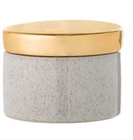 Bloomingville Bloomingville - jar stoneware natural and gold