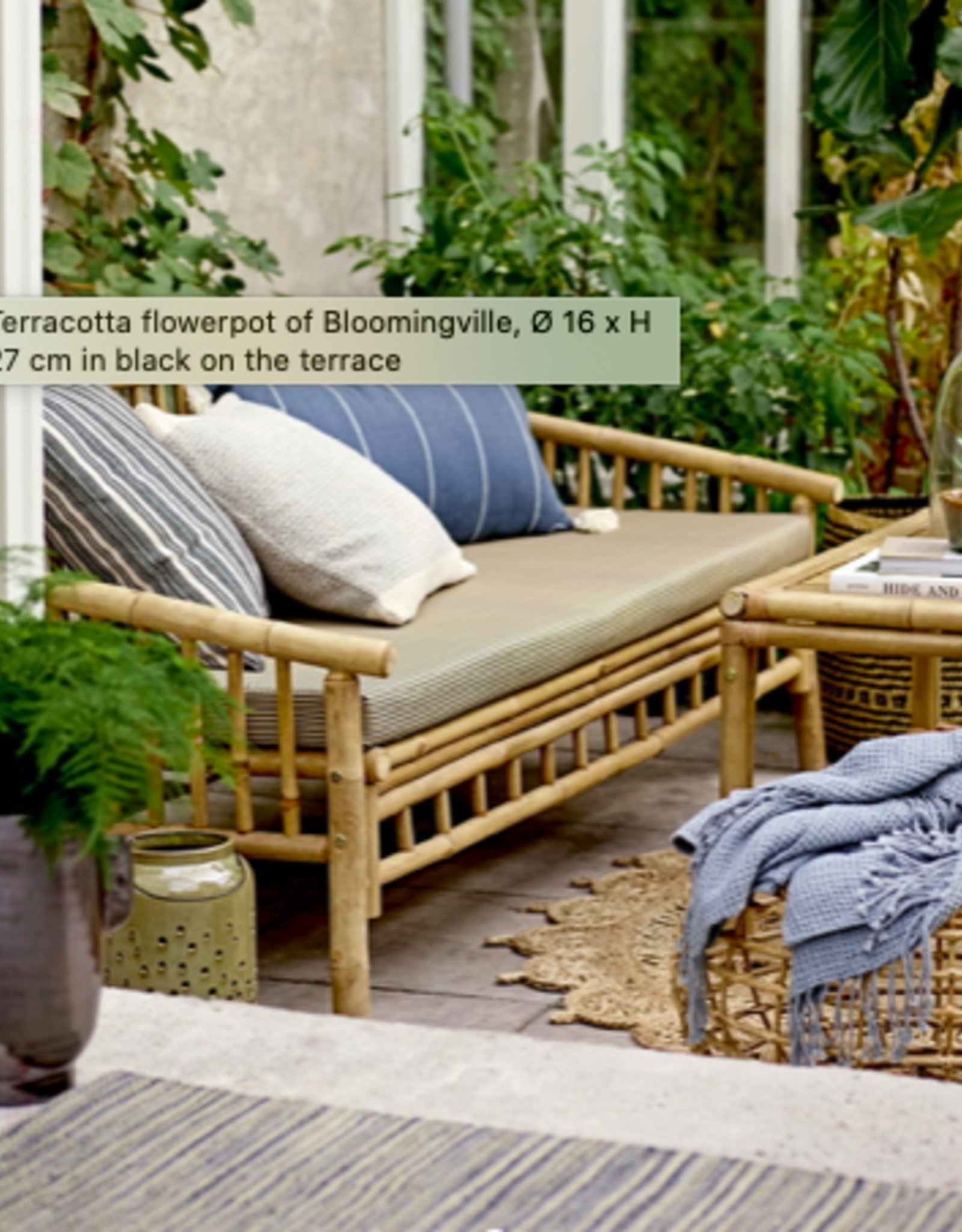 Bloomingville Bloomingville - deco flowerpot black terracotta L