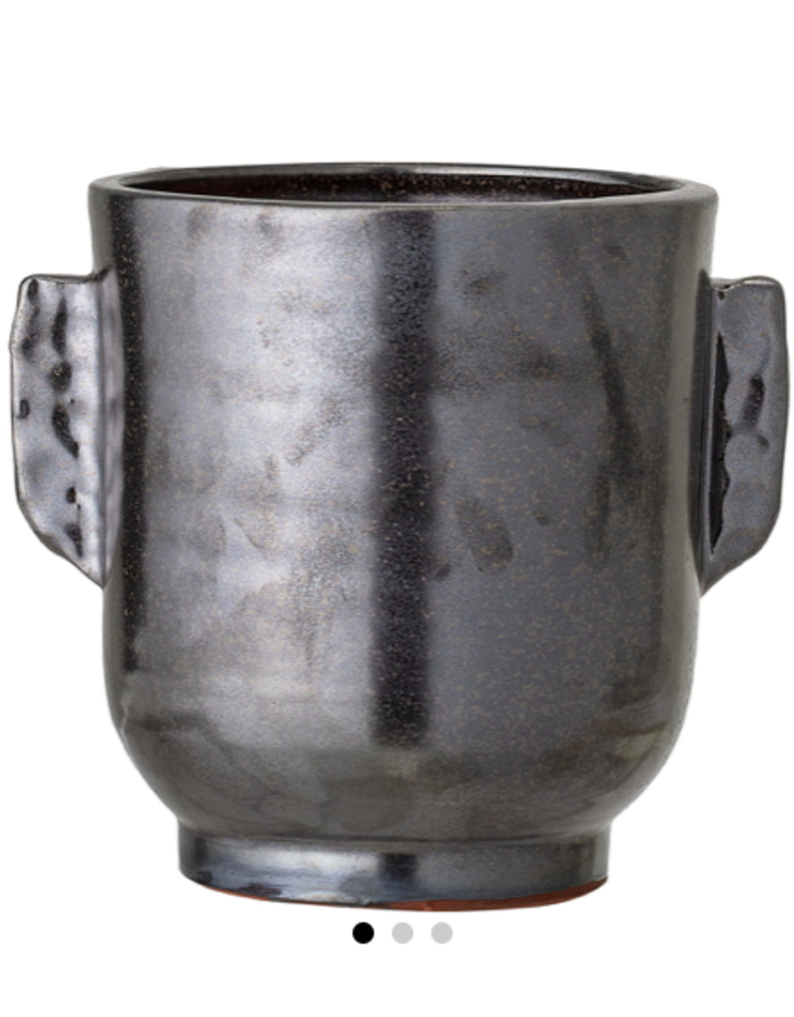 Bloomingville Bloomingville - deco flowerpot black terracotta M