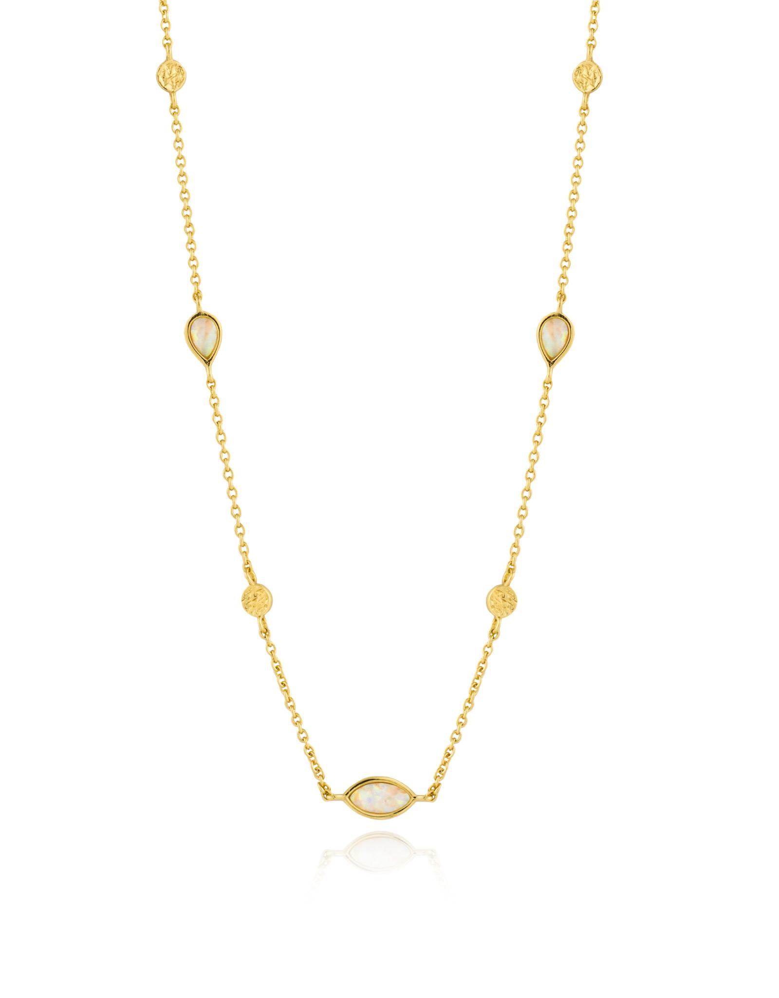 Ania Haie Ania Haie - Opal colour necklace gold