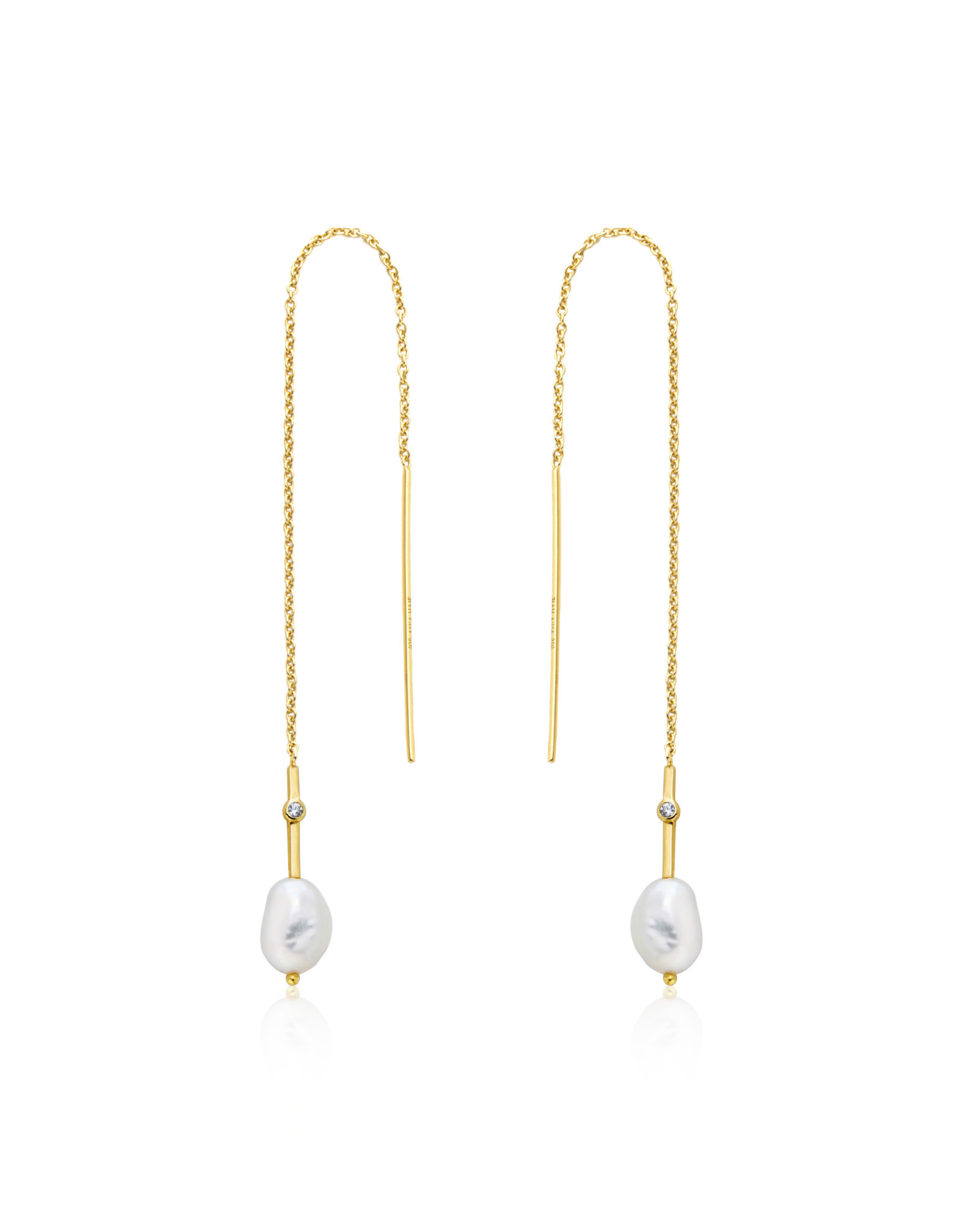 Ania Haie Ania Haie - pearl threader earrings gold