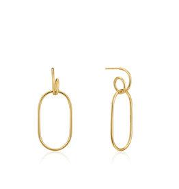 Ania Haie Ania Haie - Spiral oval hoop earrings gold