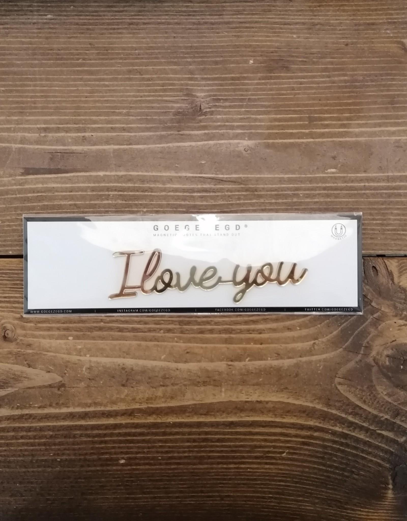 Goegezegd Goegezegd magneet - I love you