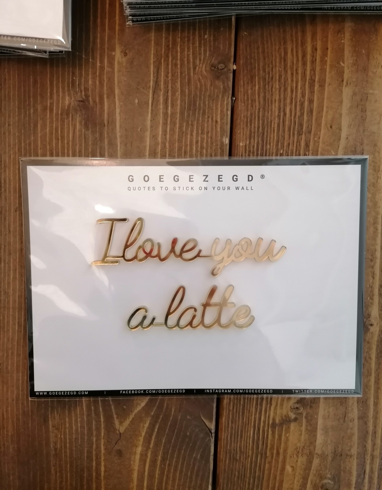 Goegezegd Goegezegd - I love you a latte (gold)