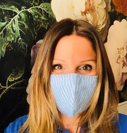 FRNCH FRNCH - mondkapje - blauw gestreept