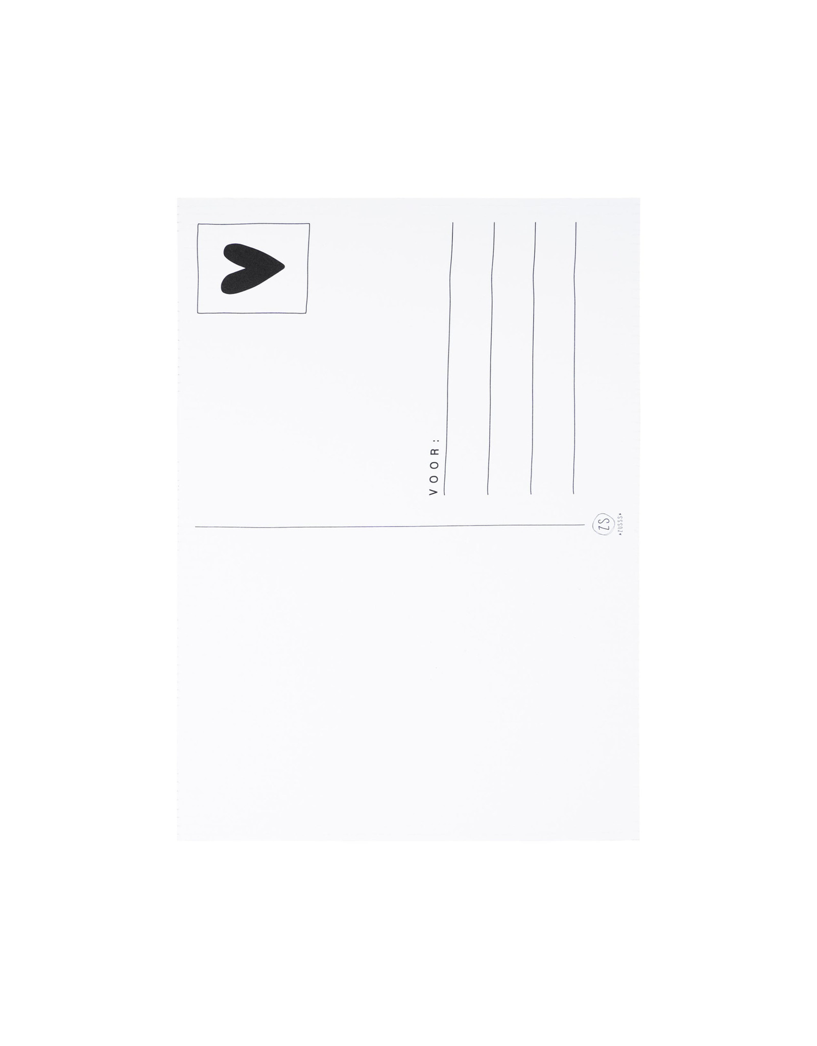 Zusss Zusss - kaartje hé leukerd