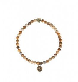 Zusss Zusss - Armband marmerkraal bruin