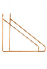 House Doctor House Doctor - brackets apart, set of 2 brass