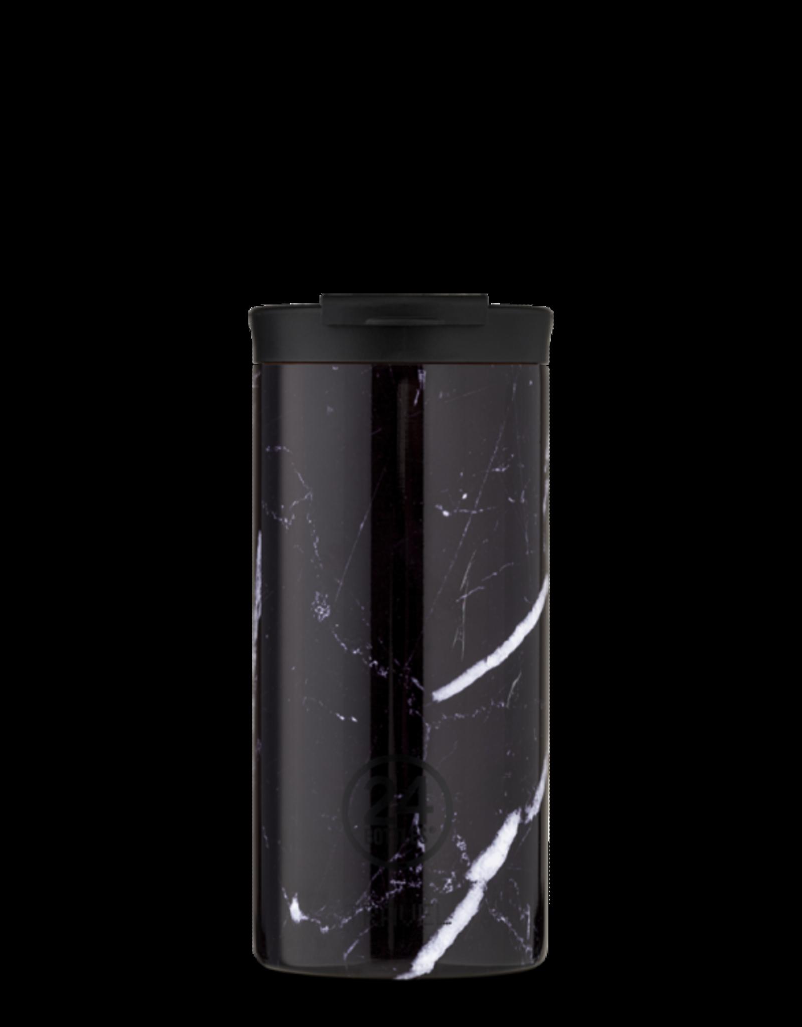 24 Bottles 24 Bottles - Travel Tumbler Black Marble 600ml