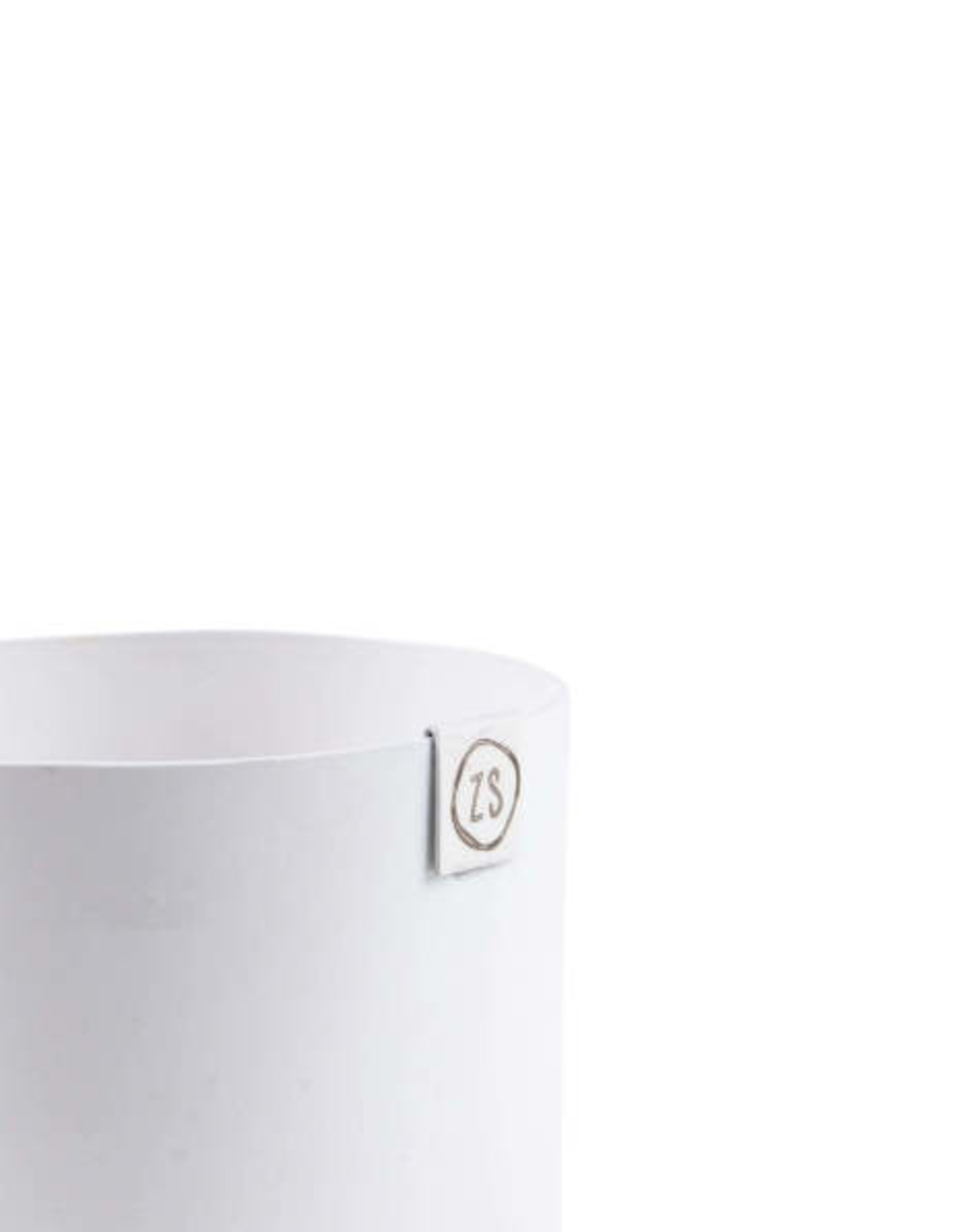 Zusss Zusss - Potje metaal wit 13cm