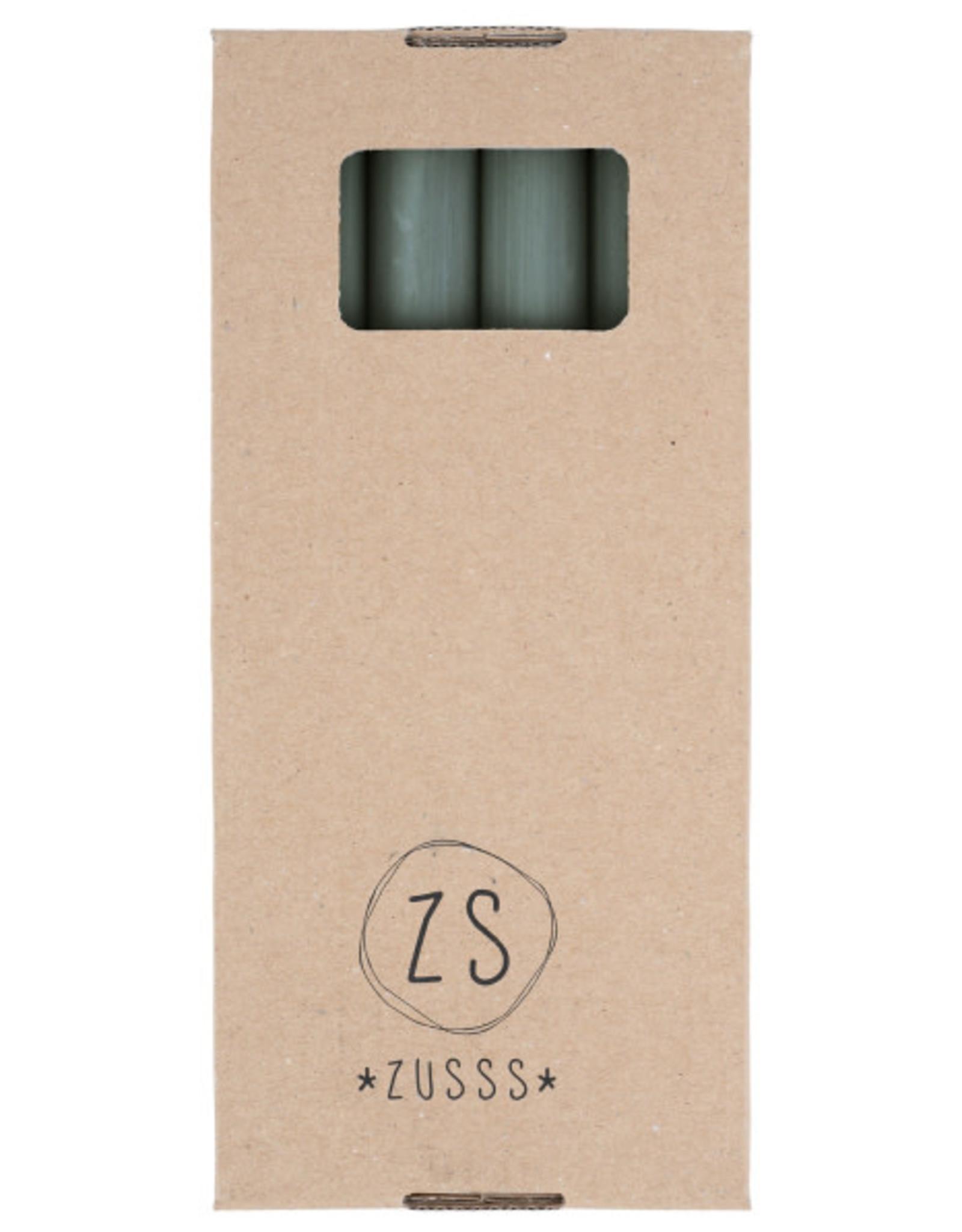 Zusss Zusss - Rustieke kaars 20 cm groen
