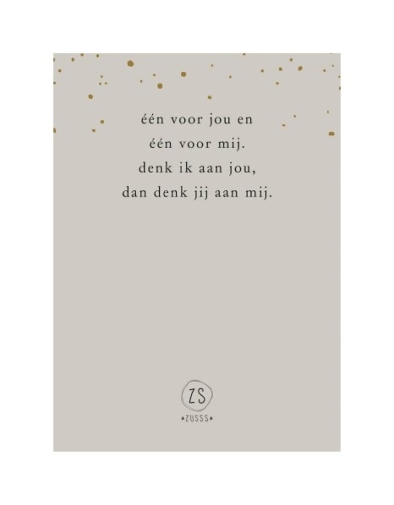 Zusss Zusss - Initiaal armbandkaartje  'Leuk kadootje'