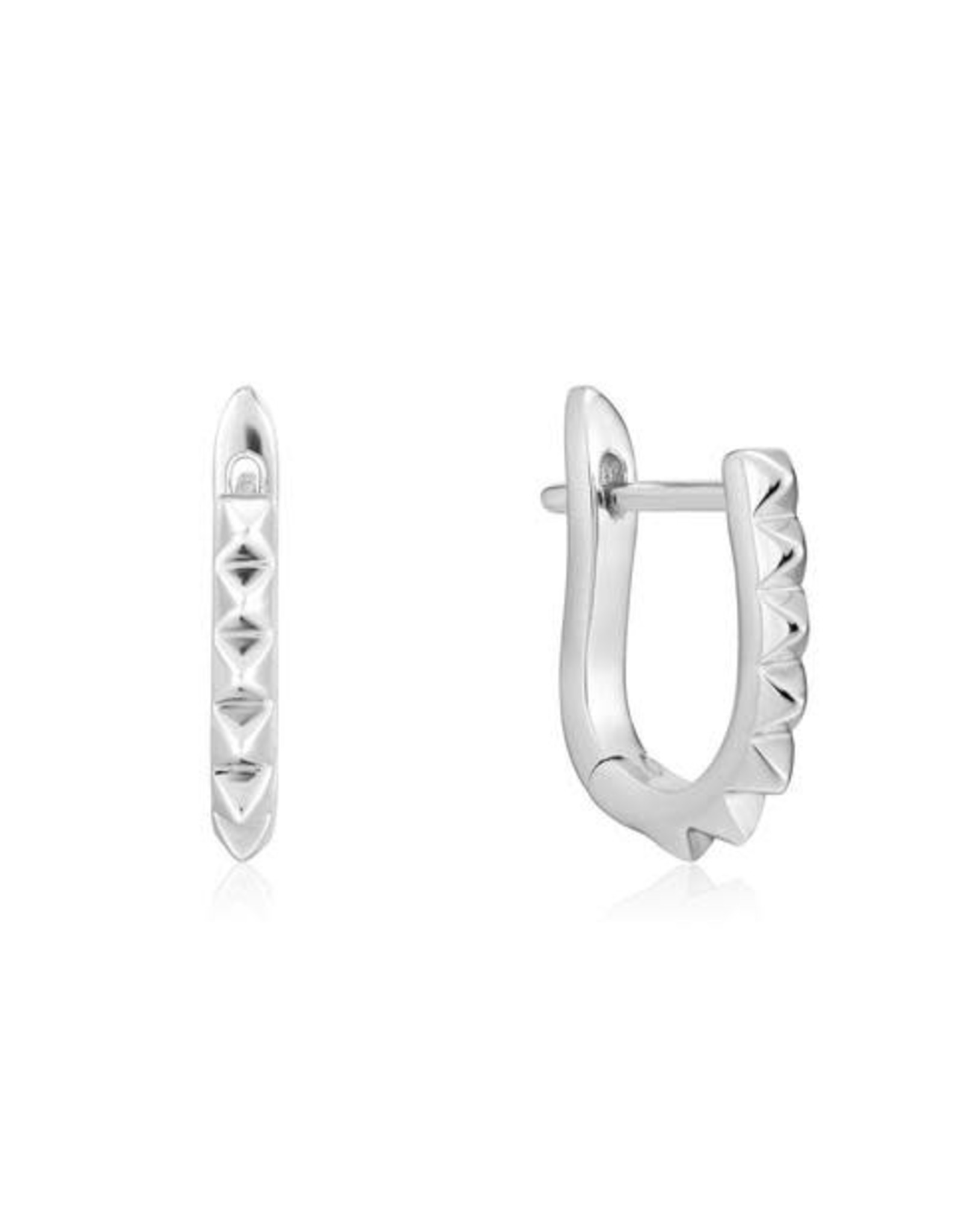 Ania Haie Ania Haie - spike huggie hoop earrings silver