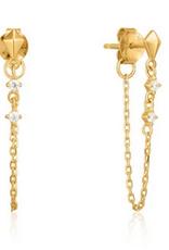 Ania Haie Ania Haie - chain stud earrings gold