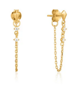 Ania Haie Ania Haie - chain stud earrings gold