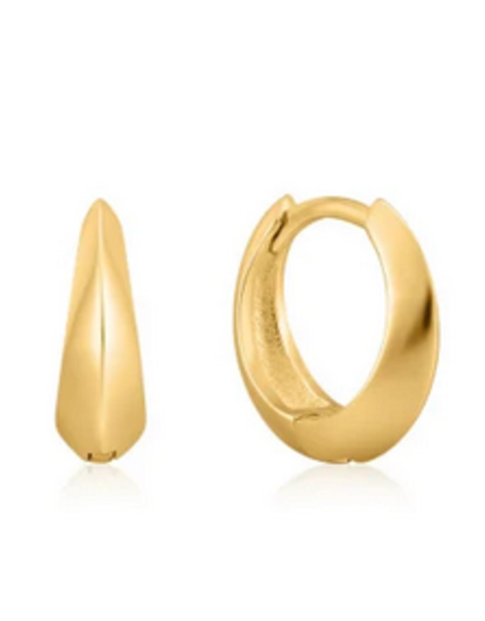 Ania Haie Ania Haie - single spike huggie hoop earrings gold