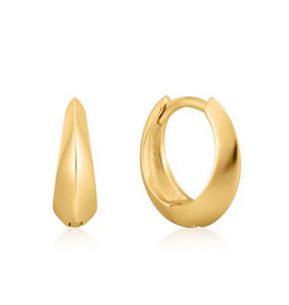 Ania Haie Ania Haie - single spike huggie hoop earrings gold
