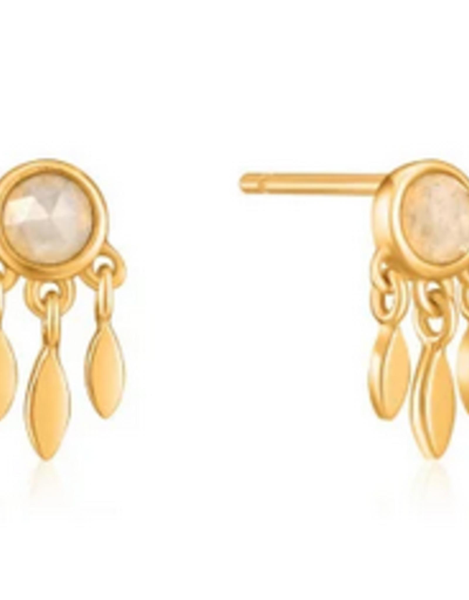Ania Haie Ania Haie - midnight fringe stud earrings