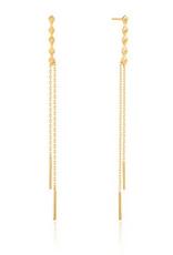 Ania Haie Ania Haie - spike double drop earrings gold