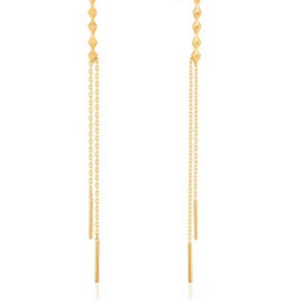 Ania Haie Ania Haie - spike double drop earrings gold