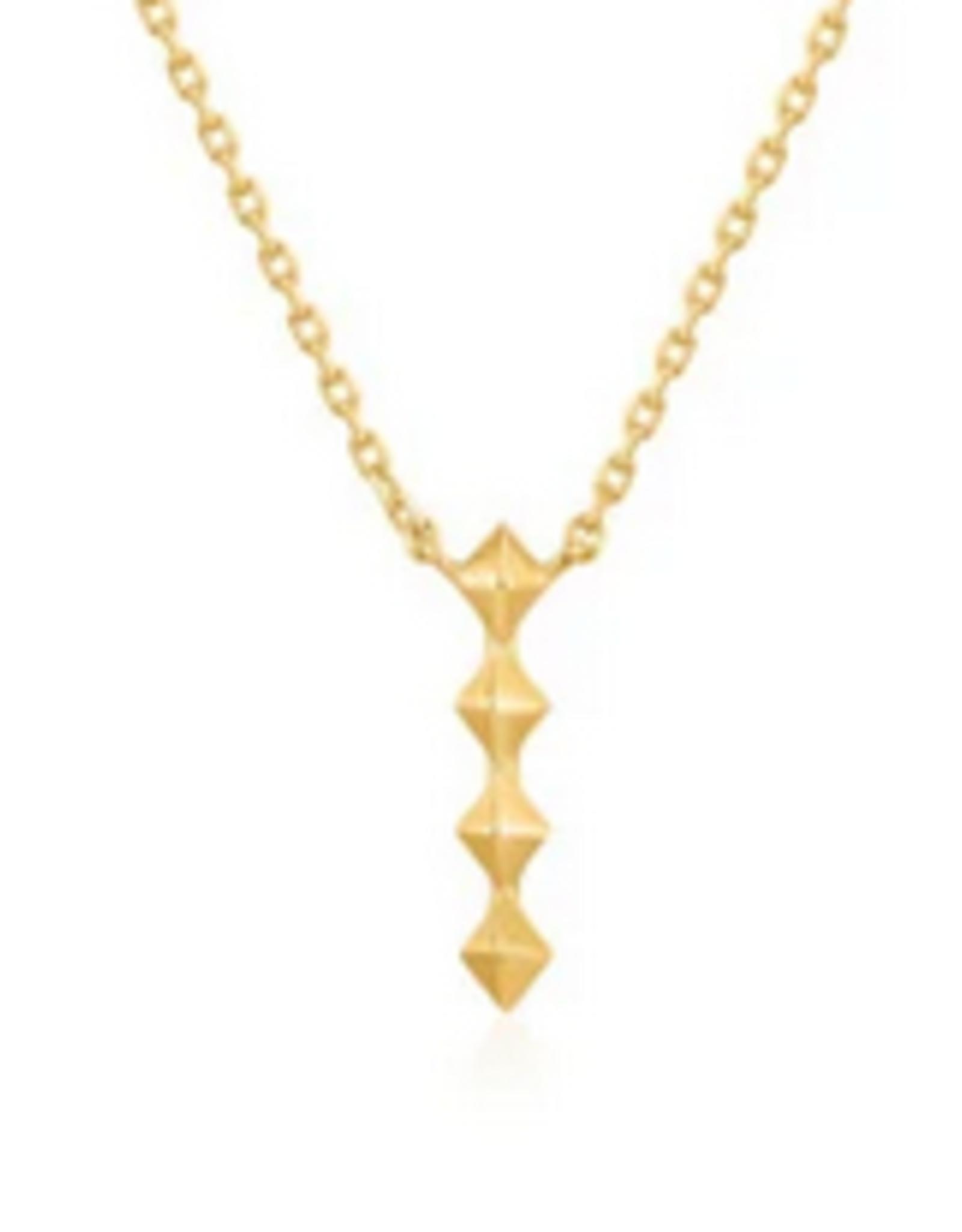 Ania Haie Ania Haie - spike drop necklace gold