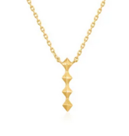 Ania Haie Ania Haie - spike drop necklace gold