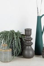 Bloomingville Bloomingville - Candlestick black stoneware S