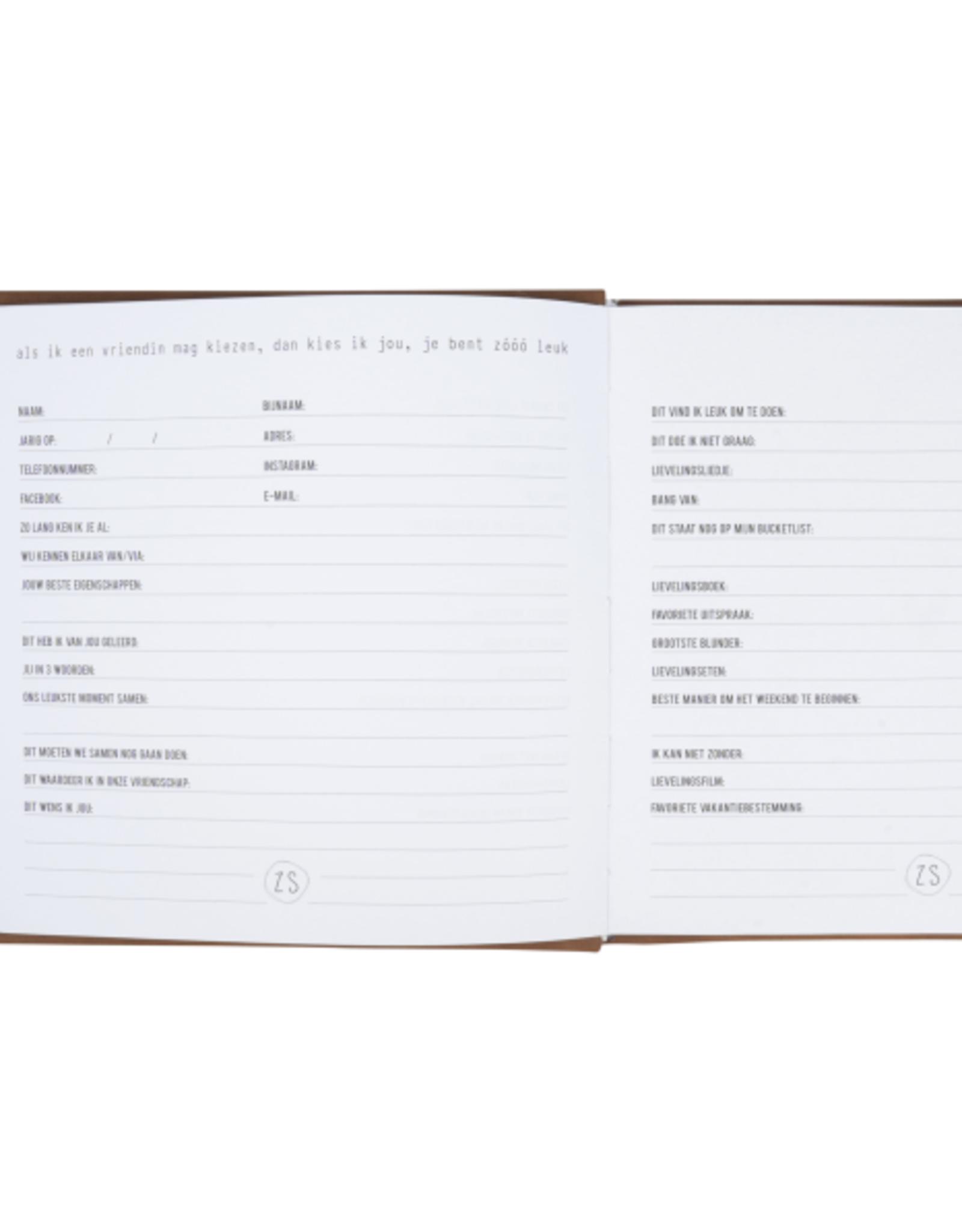 Zusss Zusss - Vriendinnenboek - Zooo leuk - cognac