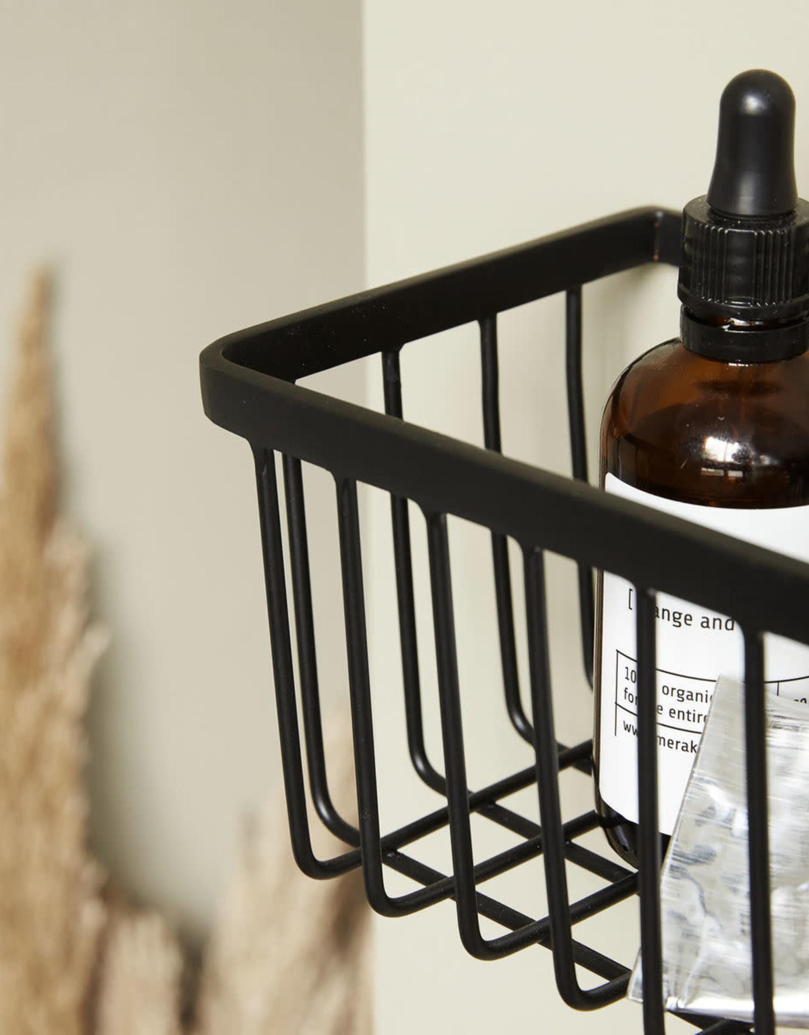 House Doctor House Doctor - Basket bath, black, small