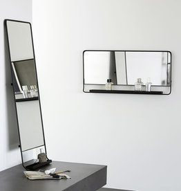 House Doctor House Doctor -Mirror w . shelf. chic. black small
