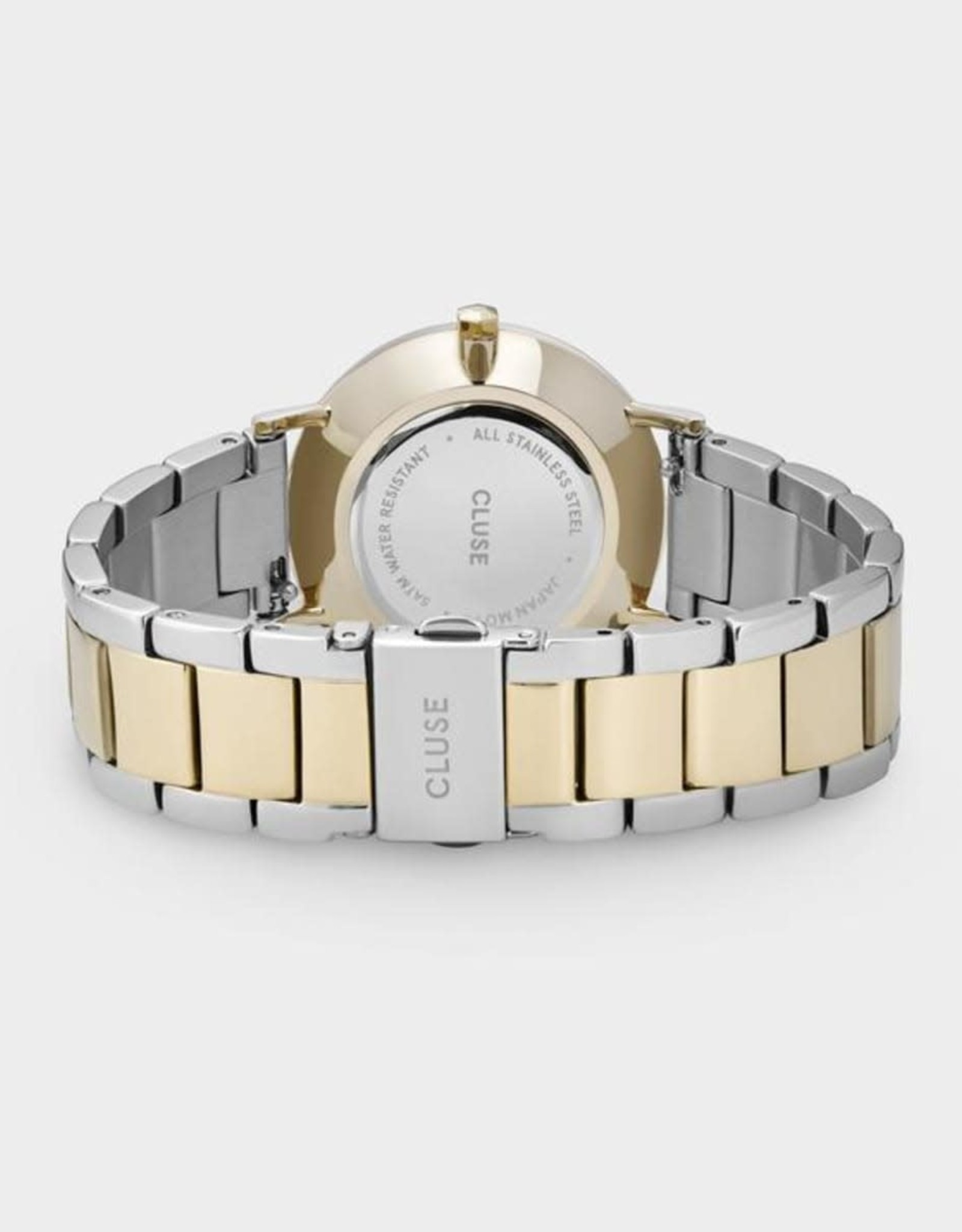 Cluse - Minuit 3 link, Gold, Silver/gold/silver