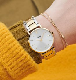 Cluse Cluse - Minuit 3 link, Gold, Silver/gold/silver