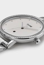 Cluse - Le Couronnement 3-Link, Silver, Winter white/silver