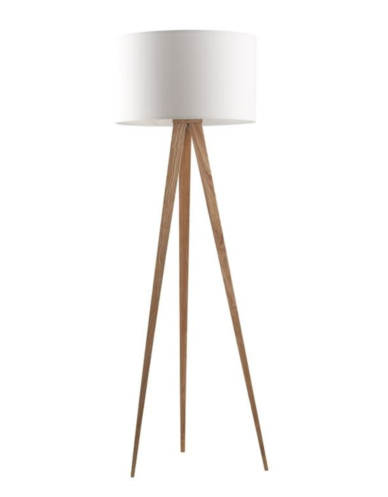 Zuiver Zuiver - Floor lamp tripod White - wood legs
