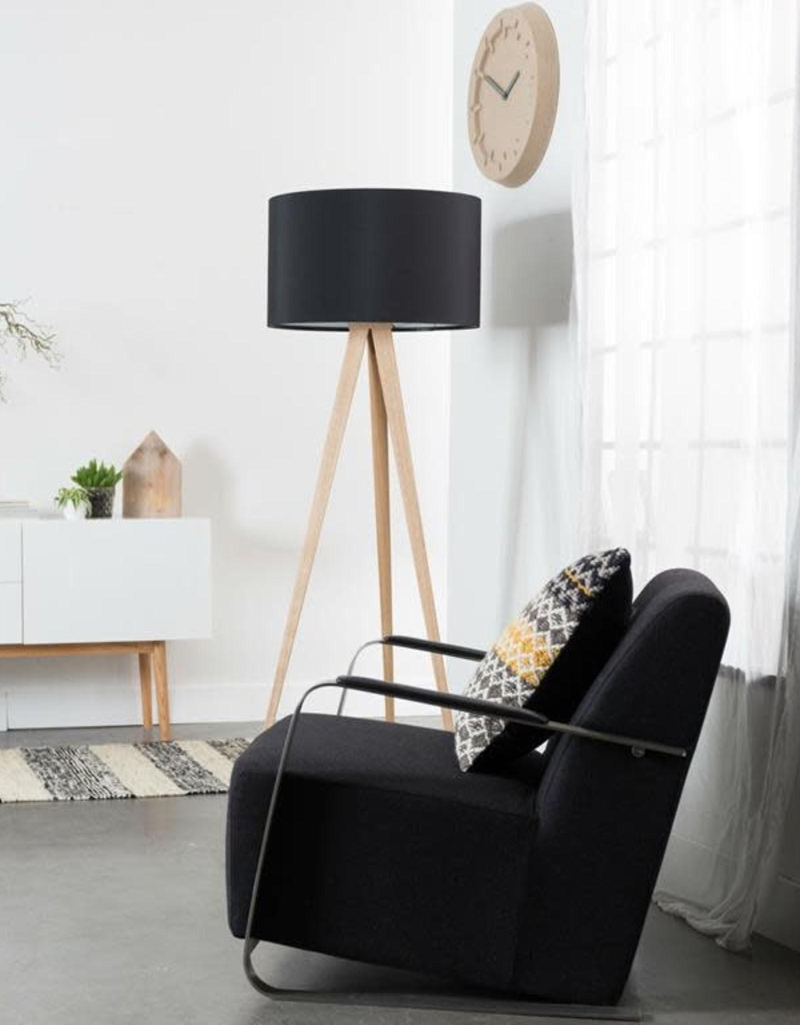 Zuiver Zuiver - Floor lamp tripod black - wood legs