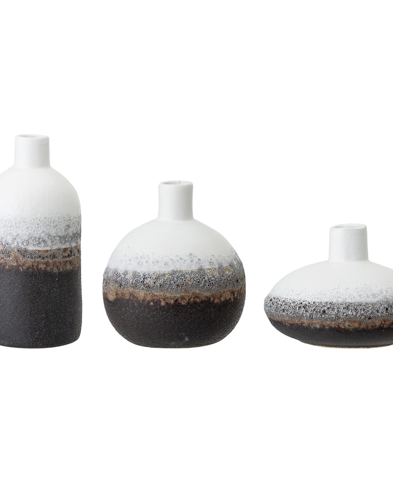 Bloomingville Bloomingville - vase stoneware mini vase white/ brown