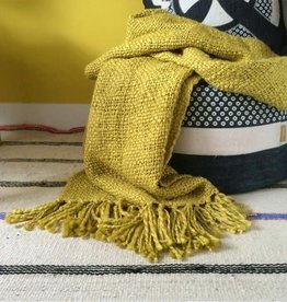 Malagoon Malagoon - mustard yellow throw