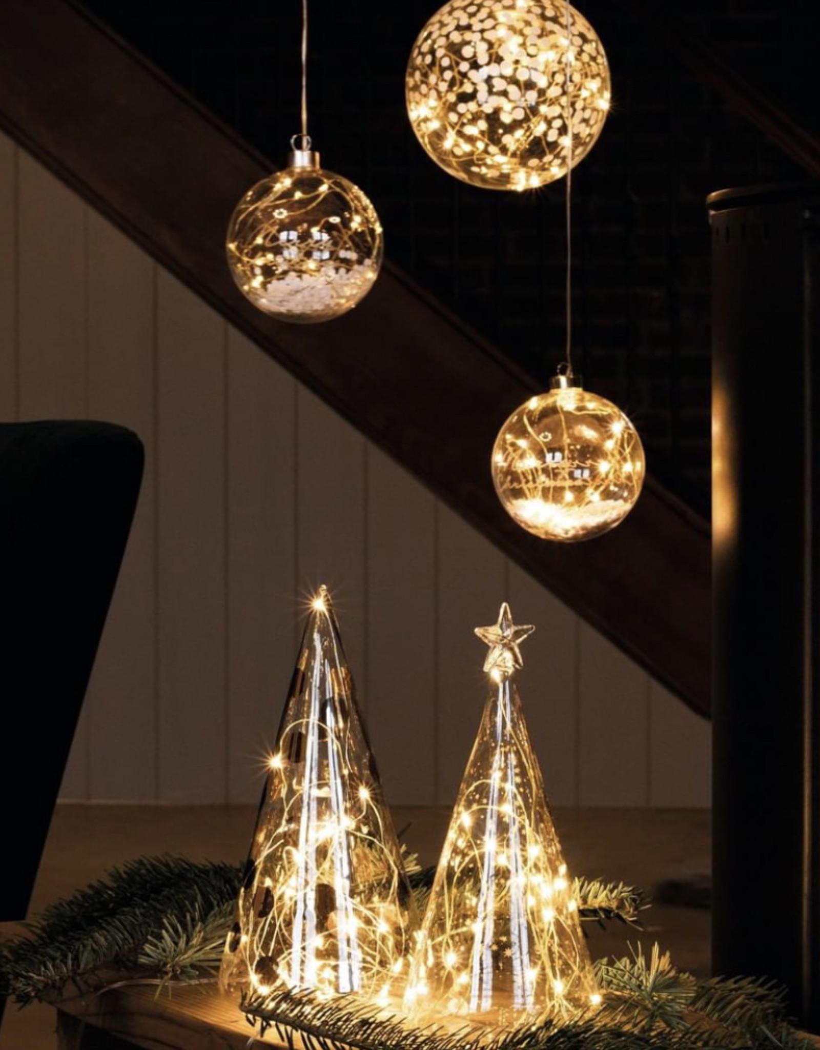 Räder Rader - Led glass fir tree dots bicolor large
