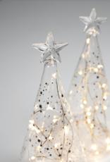Räder Rader - Led glass fir tree stars gold small