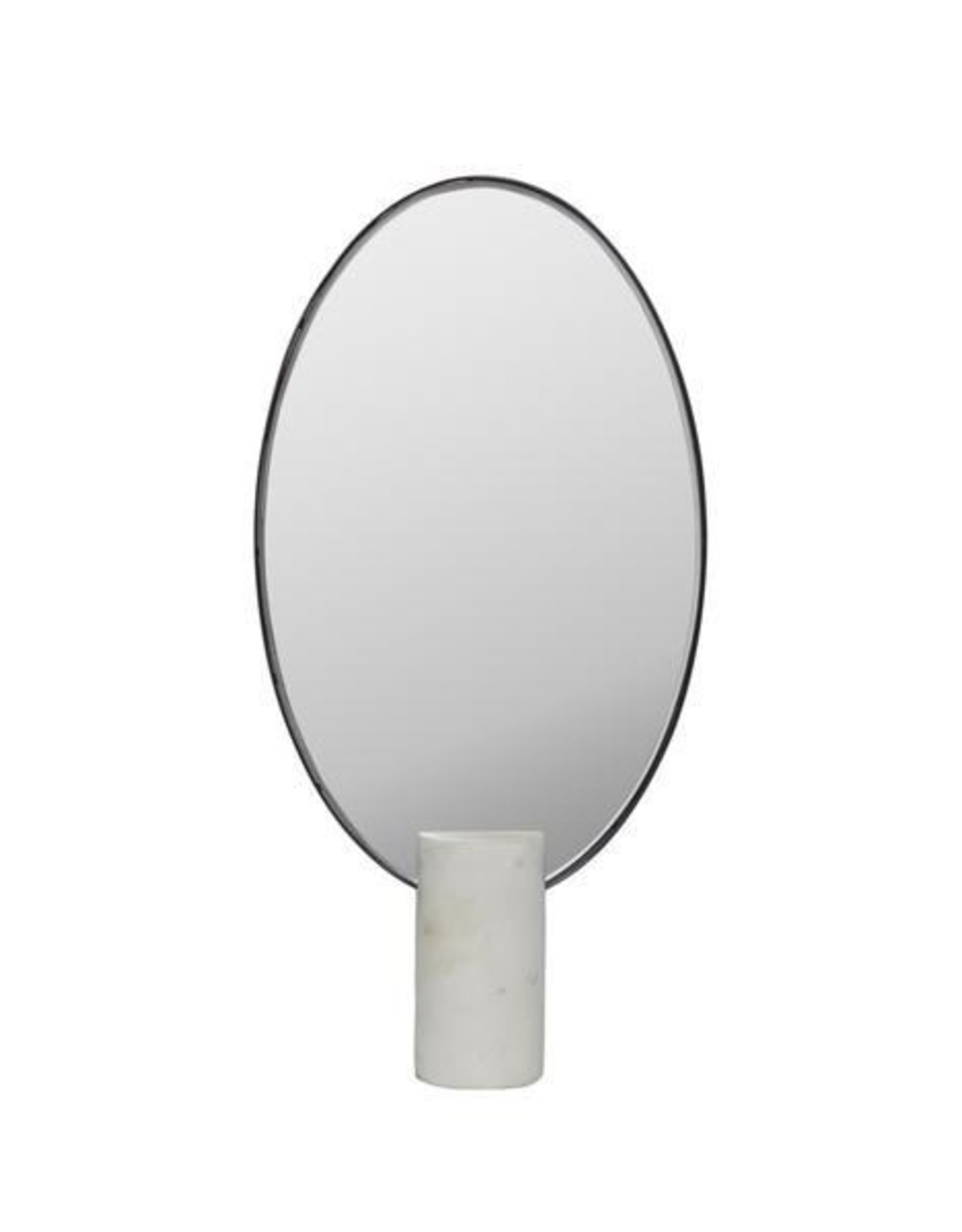 Dome Deco Dôme deco - Mirror oval on white marble stand