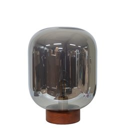 Dome Deco Dôme deco - Tablelamp glass with wooden base
