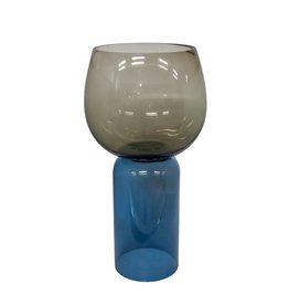 Dome Deco Dome Deco - Vase two color with blue