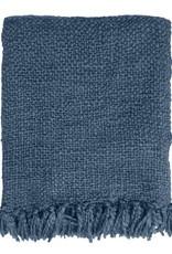 Malagoon Malagoon - Dark lead blue solid throw