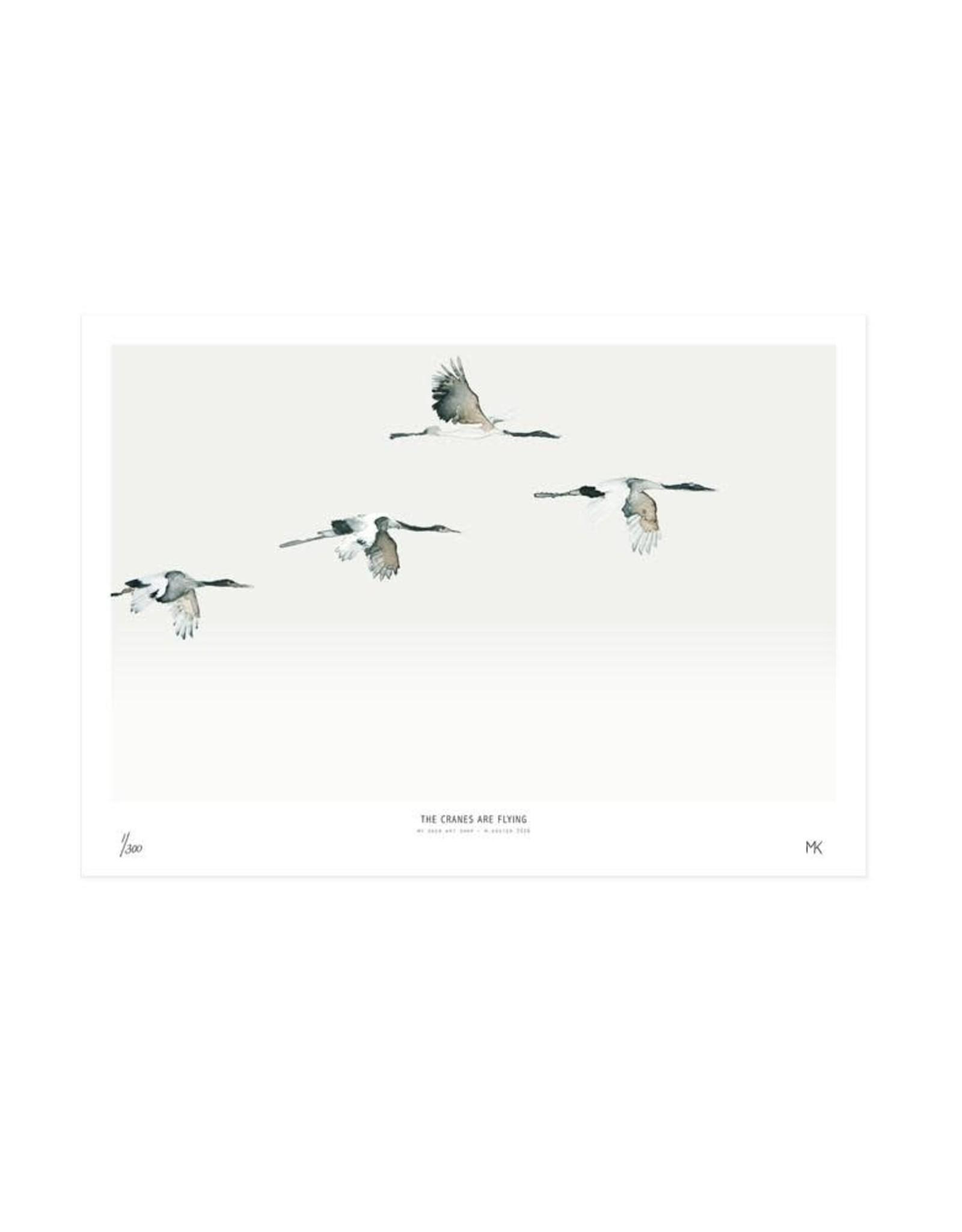 My deer art shop My deer art - The cranes are flying - 40x50