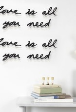 Umbra Umbra- Mantra wall decor - All you need is love