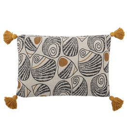 Bloomingville Bloomingville - Giano - Cushion, Yellow, recycled cotton