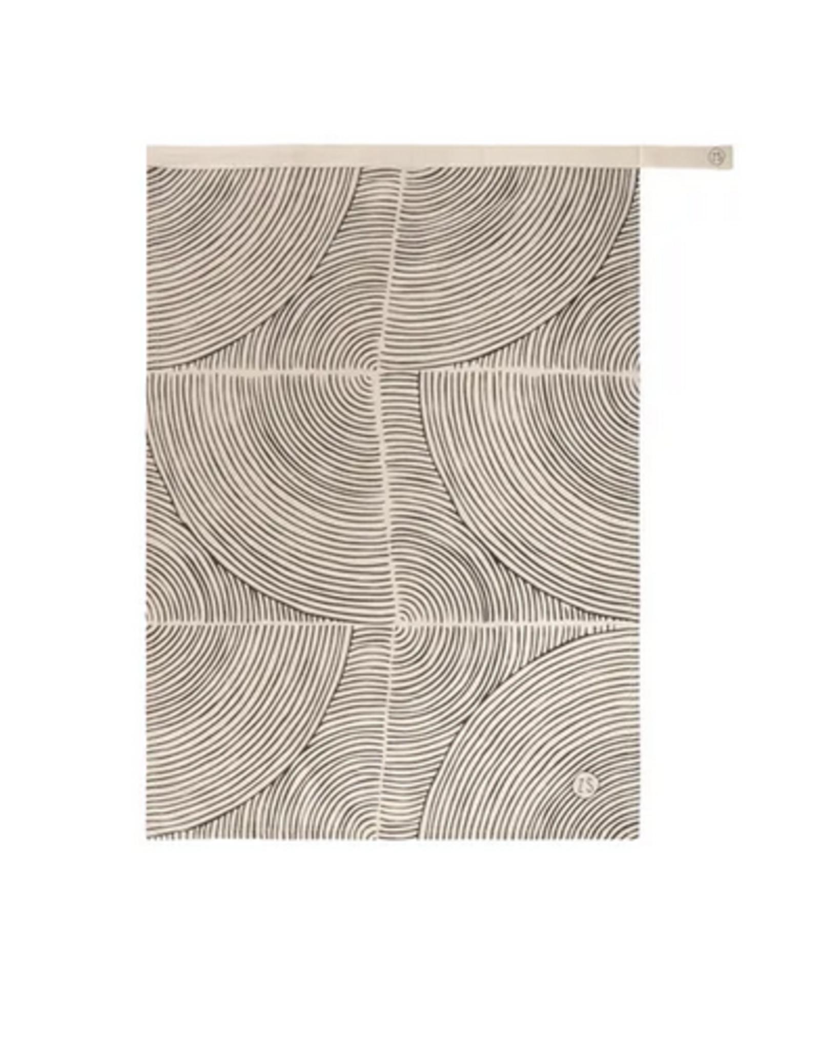 Zusss Zusss - Theedoek grafische patroon zand